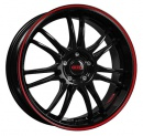Disk alu DOTZ SHIFT PINSTRIPE red 7x17 4x100 ET35