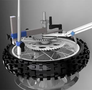 Montáž motopneu z/na disk (bez vyváženia)
