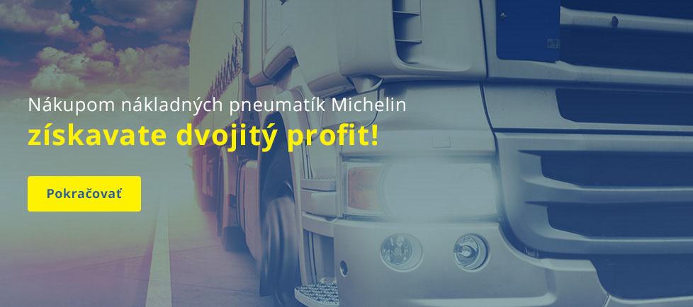 Nákladné Michelin dvojitý profit