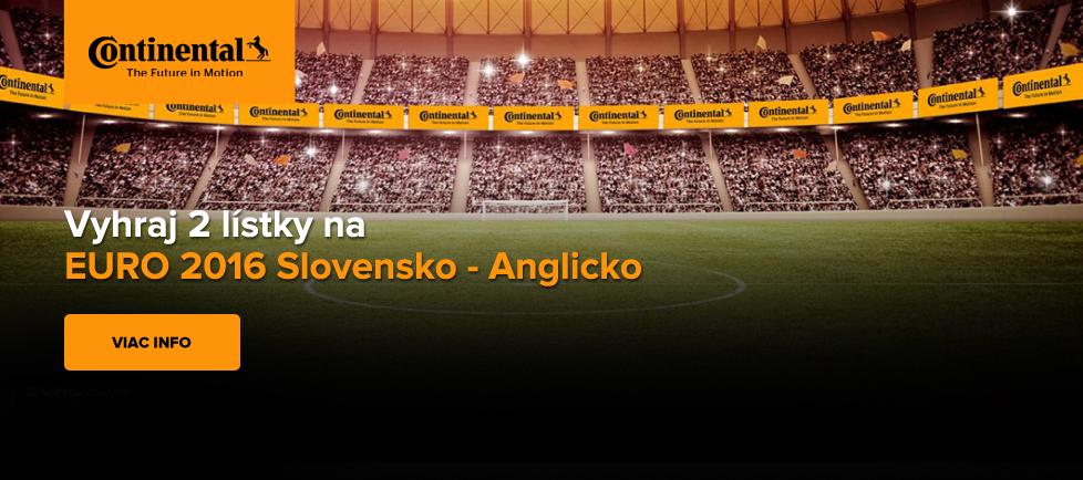 Vyhraj 2 lístky na footbal Slovensko -Anglicko
