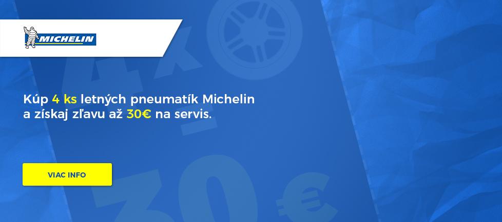 Zľava na prezutie pneumatík Michelin až 30€