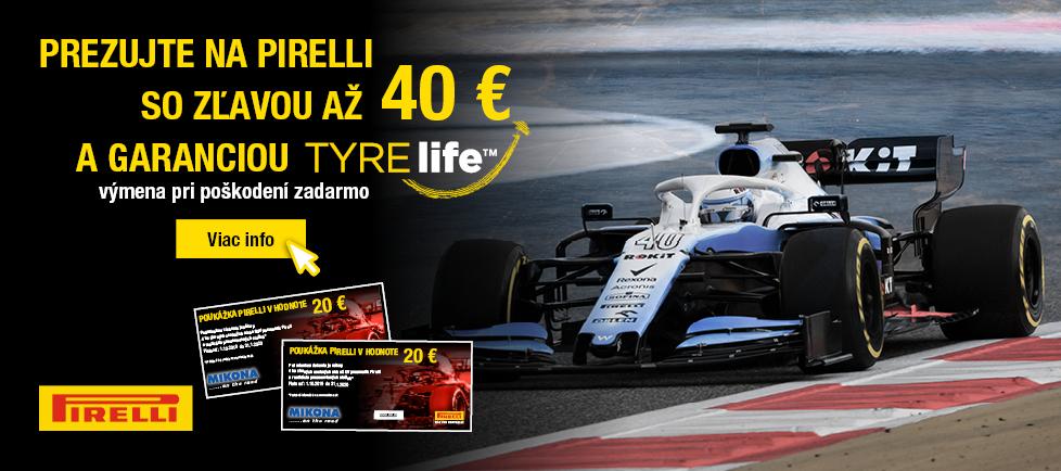 Akcia Pirelli zľava až 40 Eur na prezutie