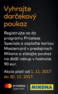 90 euro za platbu kartou Mastercard